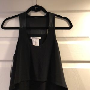 Bcbgeneration dress with leather detail
